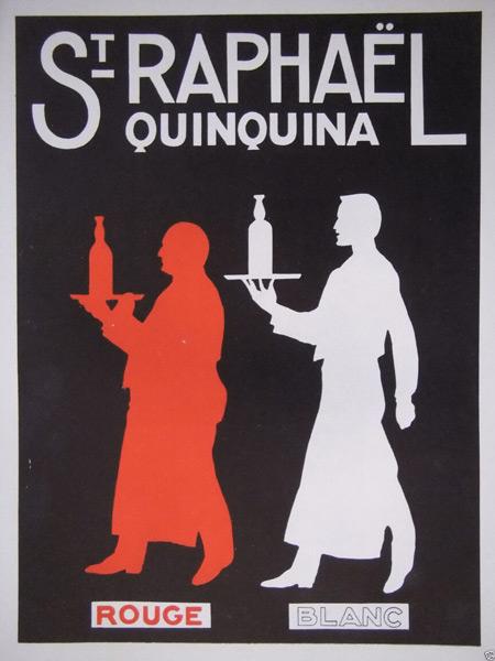 St Raphaël - Affiche rouge blanc