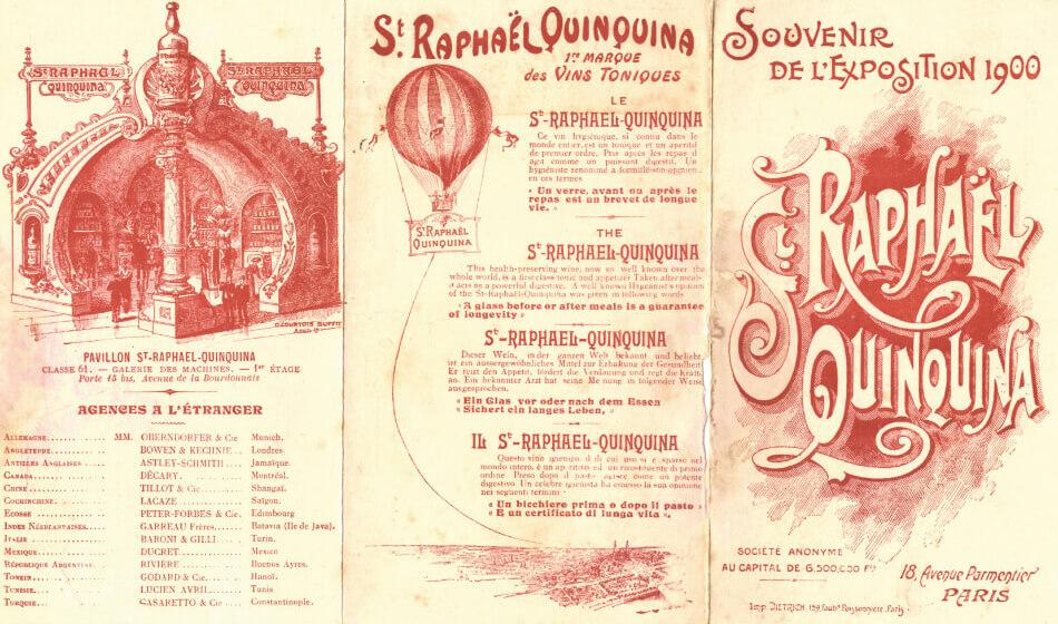 Apéritif St Raphaël - Souvenir de l'exposition de 1900