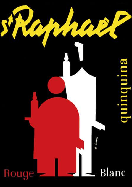 Apéritif St Raphaël - Affiche - Quiquina Rouge et blanc